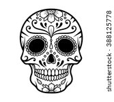 vector illustration of skull... | Shutterstock .eps vector #388125778