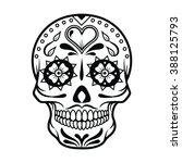 Vector Illustration Of Skull...
