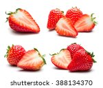 A set of fresh strawberry...