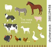 animals that live on the farm | Shutterstock .eps vector #388139458
