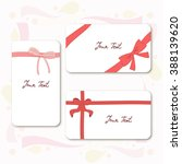 gift cards with  isolated bows... | Shutterstock .eps vector #388139620