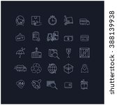 vector thin line icon set... | Shutterstock .eps vector #388139938