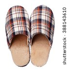 Brown Home Slippers Isolated O...
