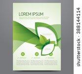 brochure  poster  annual report ... | Shutterstock . vector #388144114