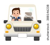 businessman while driving | Shutterstock .eps vector #388146238