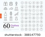 Stock vector set of clothes icons for web or services design line icons high quality vector illustration 388147750