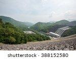 srinakarin dam kanchanaburi ... | Shutterstock . vector #388152580