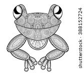Vector Frog  Zentangle African...