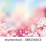 cherry blossom background | Shutterstock .eps vector #388156813