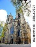 York Cathedral In York  Englan...