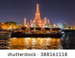 wat arun and cruise ship in... | Shutterstock . vector #388161118
