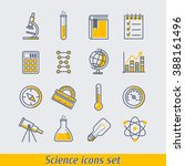 science icons set vector... | Shutterstock .eps vector #388161496