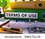 terms of use   green office... | Shutterstock . vector #388176118