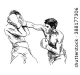 hand sketch boxers | Shutterstock .eps vector #388177306