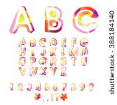 typographic alphabet in a set.... | Shutterstock .eps vector #388184140