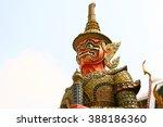 wat phra kaew  thailand   Shutterstock . vector #388186360