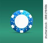 casino poker chips icon. blue... | Shutterstock .eps vector #388198486
