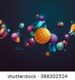 multicolored decorative balls.... | Shutterstock .eps vector #388202524