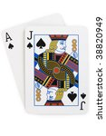blackjack aka twenty one.  ace... | Shutterstock . vector #38820949