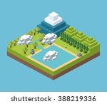 isometric icon design  | Shutterstock . vector #388219336