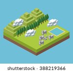 isometric icon design  | Shutterstock .eps vector #388219366