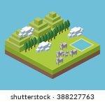 isometric icon design  | Shutterstock . vector #388227763
