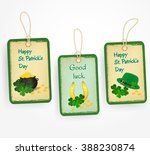 happy st. patrick day... | Shutterstock .eps vector #388230874