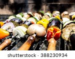 Skewered Vegetables In The Grill