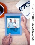 view of video chat app against... | Shutterstock . vector #388232713