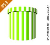 striped container. tub food... | Shutterstock .eps vector #388236154