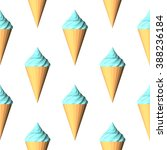 ice cream seamless pattern.... | Shutterstock .eps vector #388236184