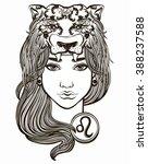 leo astrological sign. hand... | Shutterstock .eps vector #388237588
