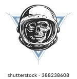 dead astronaut in spacesuit...   Shutterstock .eps vector #388238608