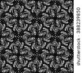 hand drawn paisley pattern.... | Shutterstock .eps vector #388239850
