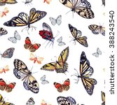 watercolor pattern with... | Shutterstock . vector #388243540
