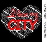 vector hand lettering poster... | Shutterstock .eps vector #388245754