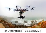 the drone with the professional ... | Shutterstock . vector #388250224
