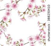 flowering branch of cherry  ... | Shutterstock . vector #388250410