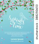 vector spring background.... | Shutterstock .eps vector #388250653