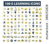 e learning icons  | Shutterstock .eps vector #388252828