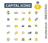 capital icons  | Shutterstock .eps vector #388252963