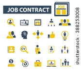 job contract icons  | Shutterstock .eps vector #388253008