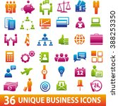 set of 36 business icons... | Shutterstock . vector #388253350