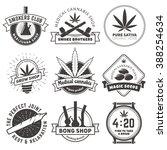 set of vector marijuana smoking ... | Shutterstock .eps vector #388254634