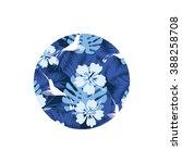 summer denim camouflage... | Shutterstock .eps vector #388258708