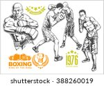 fight between two boxers   set... | Shutterstock .eps vector #388260019