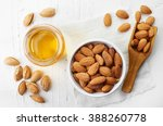 Almond Oil And Bowl Of Almonds...