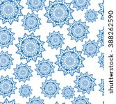 seamless china blue pattern... | Shutterstock .eps vector #388262590