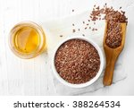 Linseed Oil And Bowl Of...
