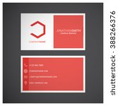 red business card | Shutterstock .eps vector #388266376